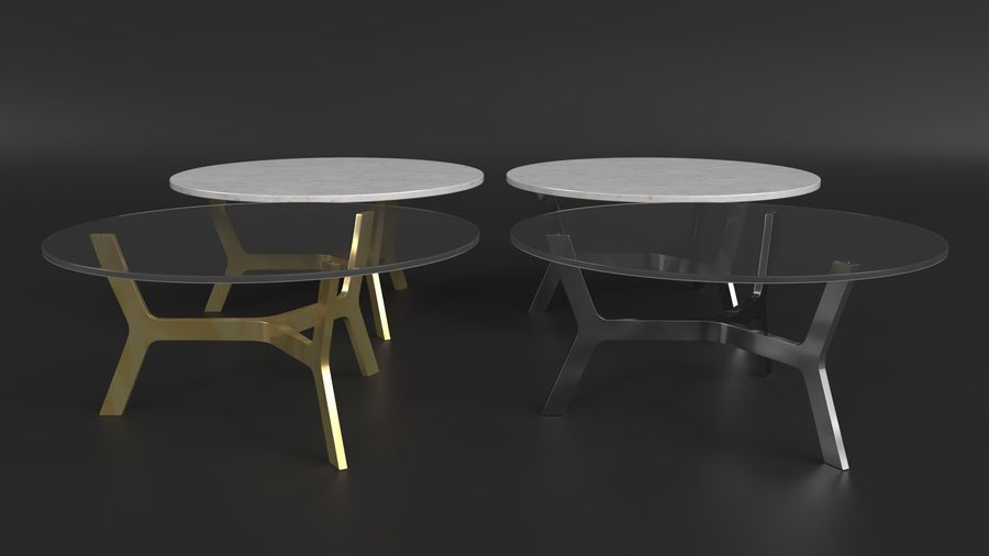 Elke Round Coffee Table royalty-free 3d model - Preview no. 2