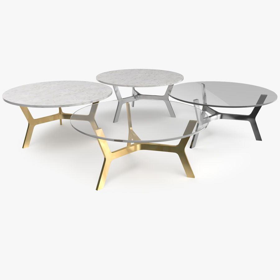 Elke Round Coffee Table royalty-free 3d model - Preview no. 1
