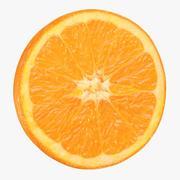 Okrągły plasterek pomarańczy 3d model