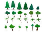 Cartoon Drzewa LowPoly Pack 3d model