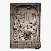 宗教的な石の救済 3d model