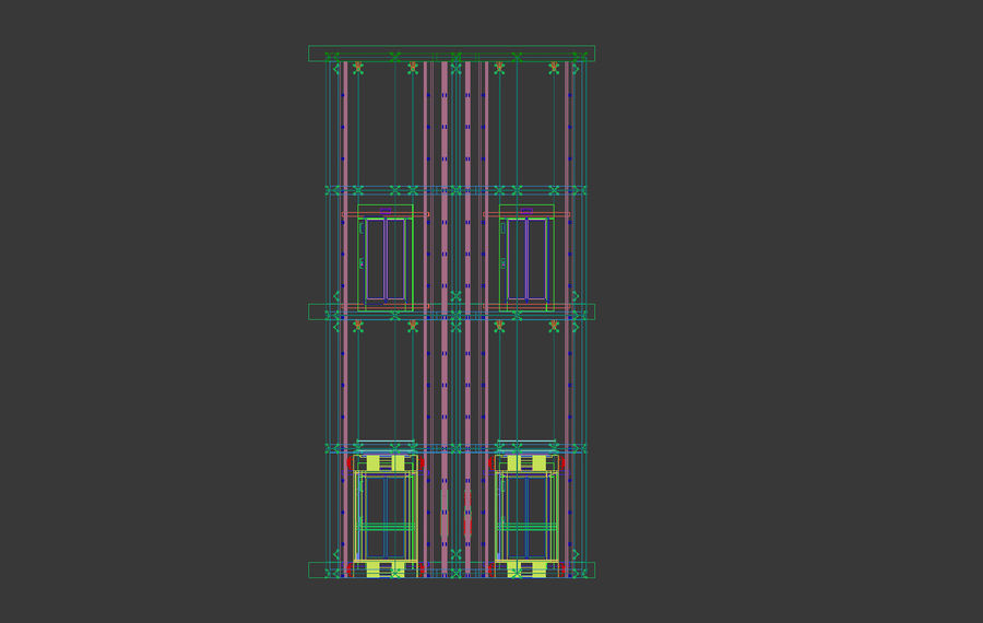 Ascensor royalty-free modelo 3d - Preview no. 8