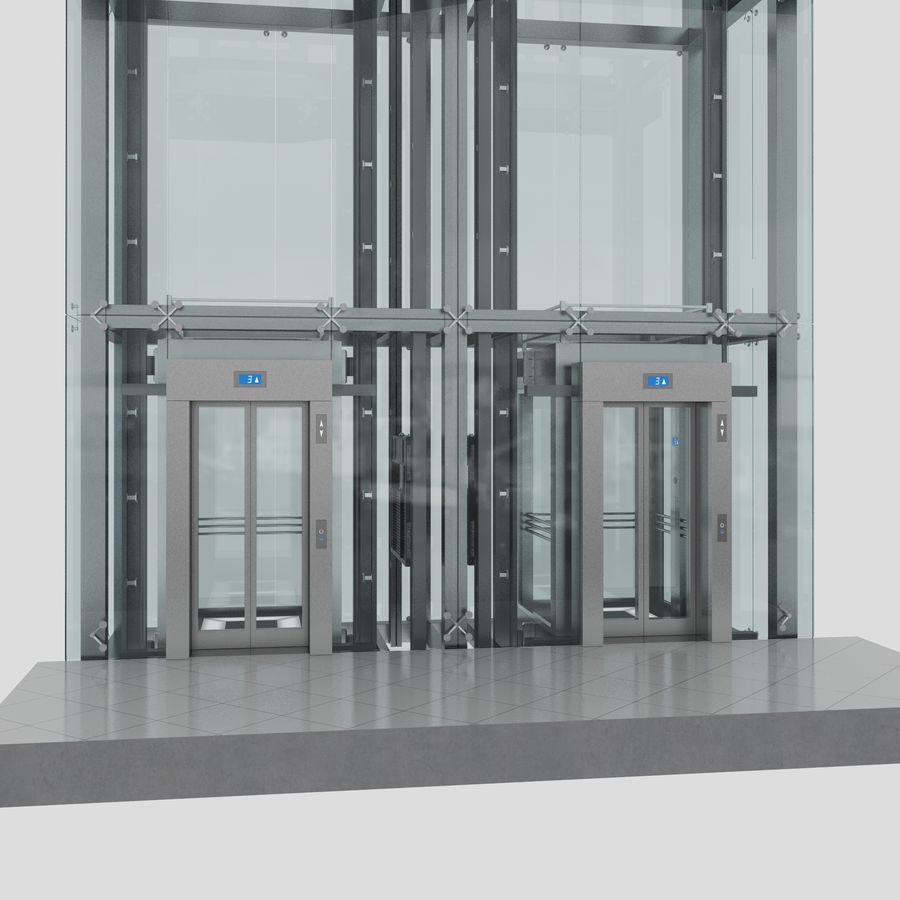 Ascensor royalty-free modelo 3d - Preview no. 2