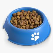 Dog Bowl With Dry Food 3d model