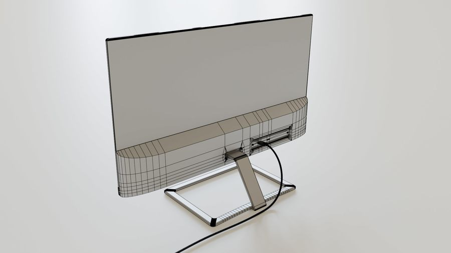 PC Monitor 01 royalty-free 3d model - Preview no. 5