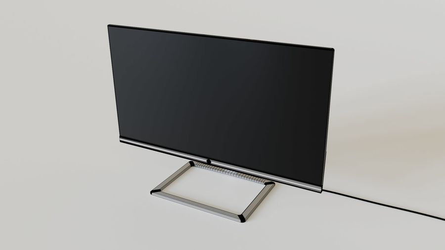 PC Monitor 01 royalty-free 3d model - Preview no. 7