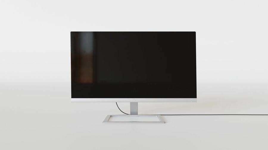PC Monitor 01 royalty-free 3d model - Preview no. 9