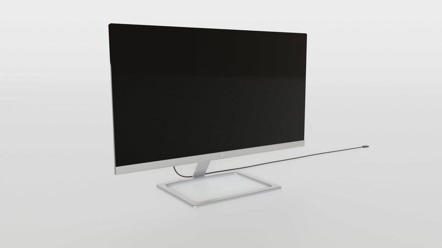PC Monitor 01 royalty-free 3d model - Preview no. 3