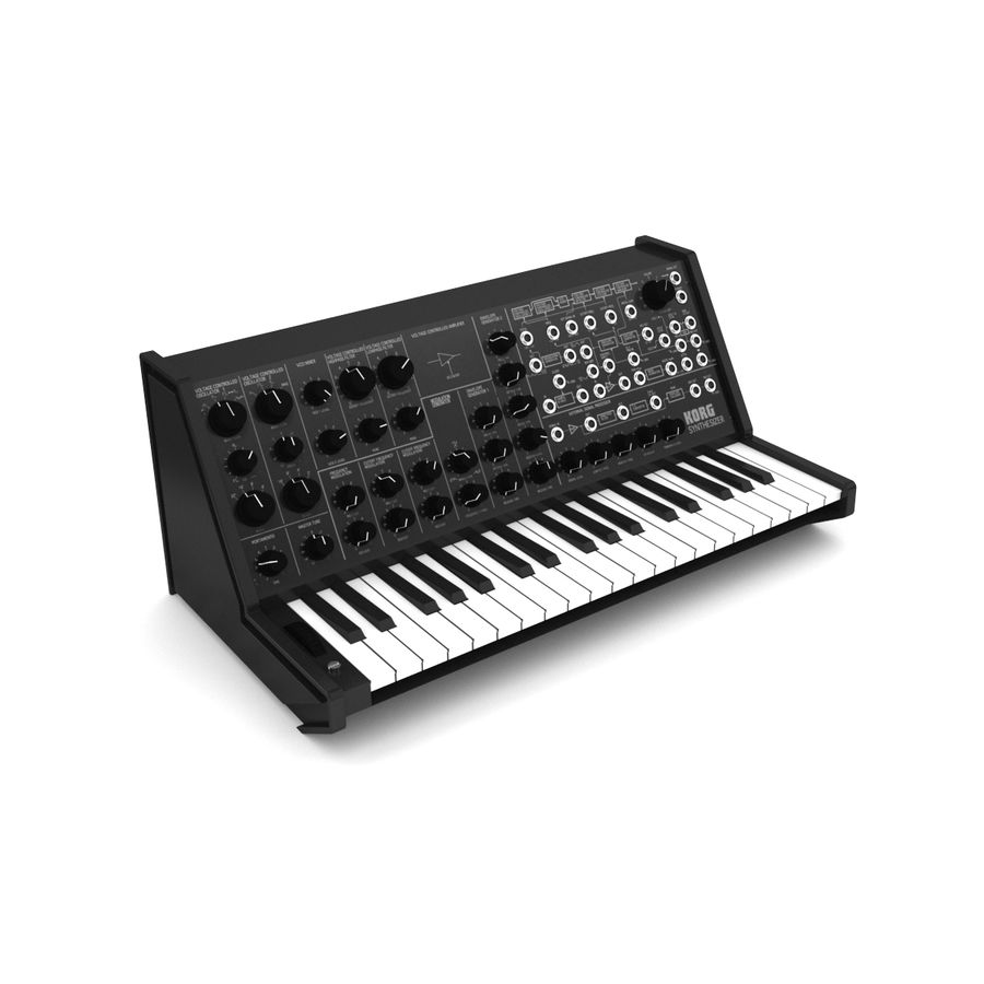 Synthesizer Korg MS20 royalty-free 3d model - Preview no. 1