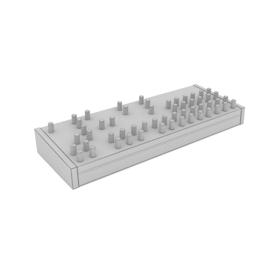 Synthesizer Dave Smith Prophet royalty-free 3d model - Preview no. 6