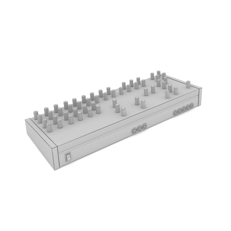 Synthesizer Dave Smith Prophet royalty-free 3d model - Preview no. 7