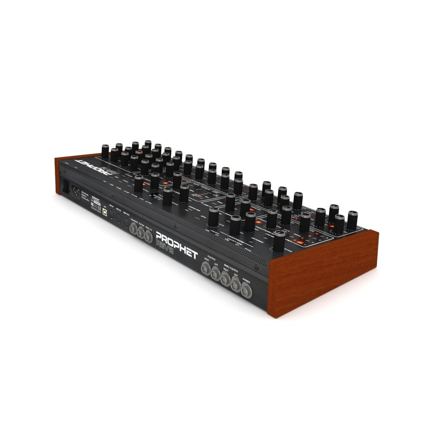 Synthesizer Dave Smith Prophet royalty-free 3d model - Preview no. 5