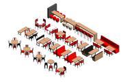 Restaurante - Muebles sueltos modelo 3d