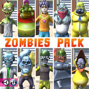 Cartoon Zombies Pack Low poly | Nierealne | Gotowy do gry Unity 3d model