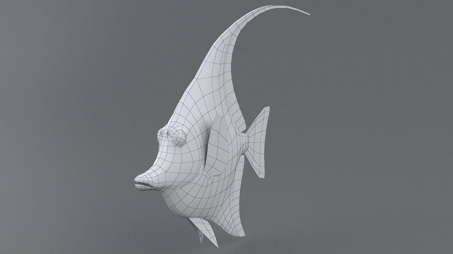 Zanclus Cornutus Korallenriff Fisch royalty-free 3d model - Preview no. 11