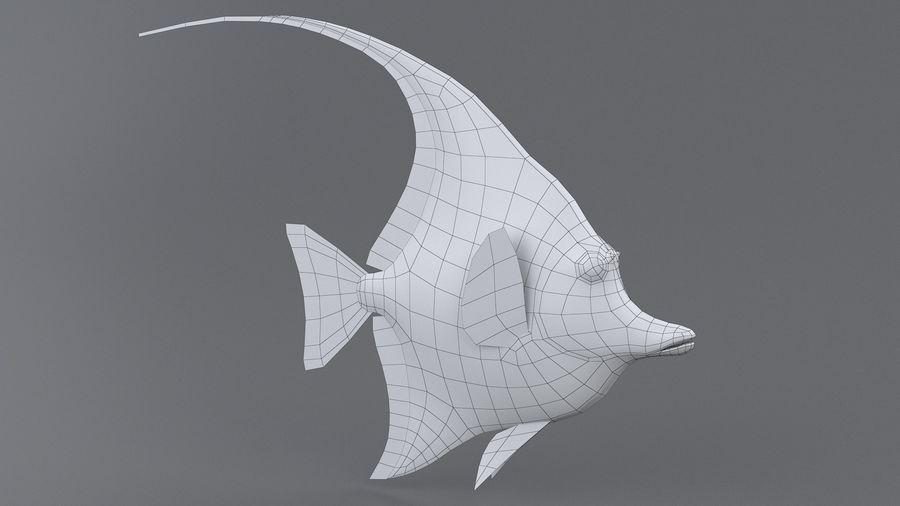 Zanclus Cornutus Korallenriff Fisch royalty-free 3d model - Preview no. 9
