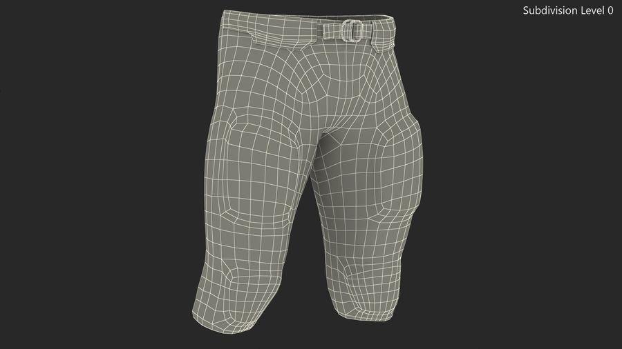Uniforme de pantalones de jugador de fútbol americano royalty-free modelo 3d - Preview no. 11