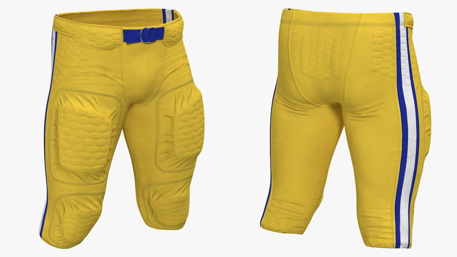 Uniforme de pantalones de jugador de fútbol americano royalty-free modelo 3d - Preview no. 2