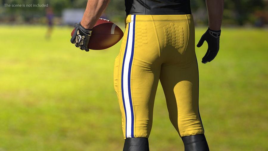Uniforme de pantalones de jugador de fútbol americano royalty-free modelo 3d - Preview no. 4