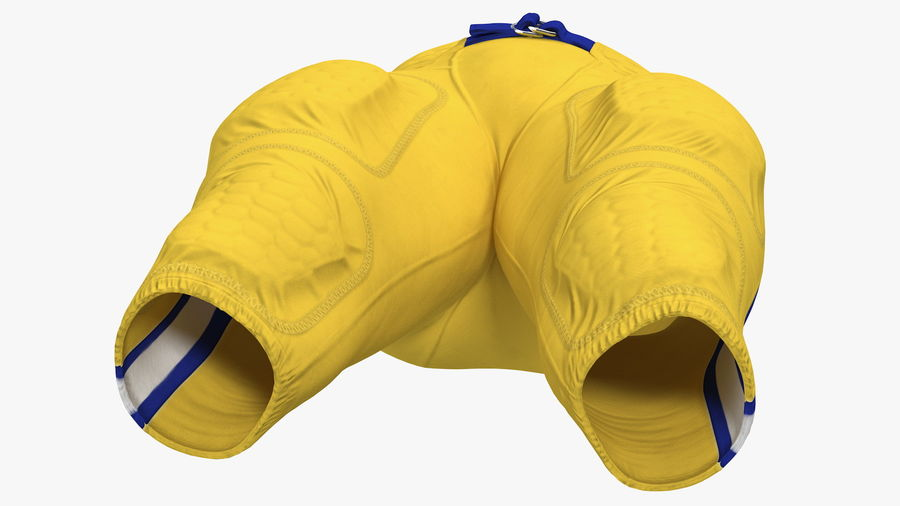 Uniforme de pantalones de jugador de fútbol americano royalty-free modelo 3d - Preview no. 9