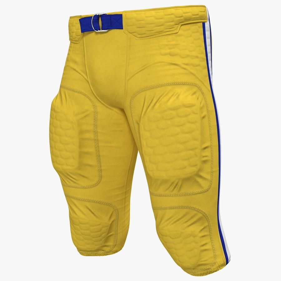 Uniforme de pantalones de jugador de fútbol americano royalty-free modelo 3d - Preview no. 1