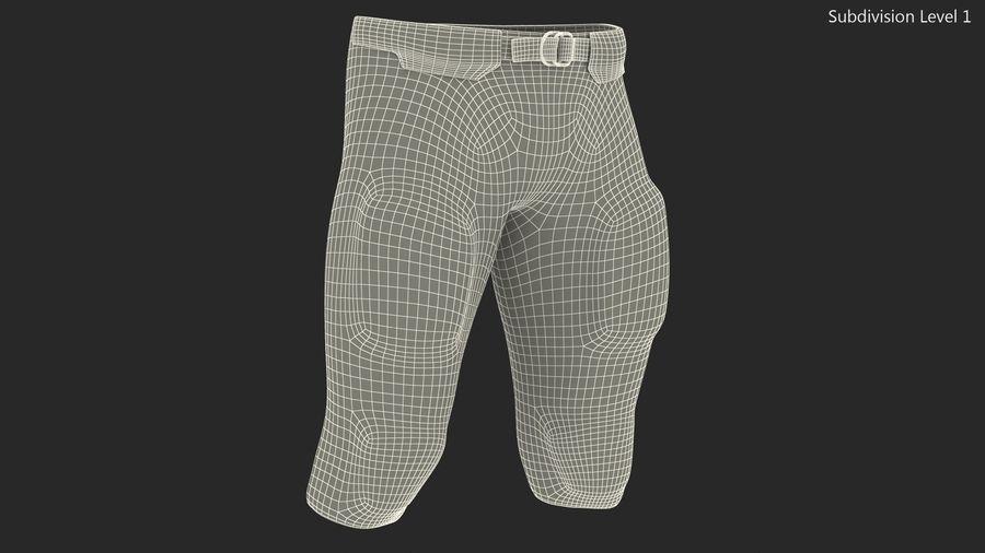 Uniforme de pantalones de jugador de fútbol americano royalty-free modelo 3d - Preview no. 12