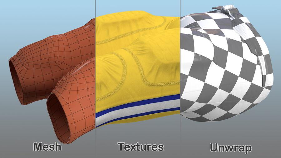 Uniforme de pantalones de jugador de fútbol americano royalty-free modelo 3d - Preview no. 10