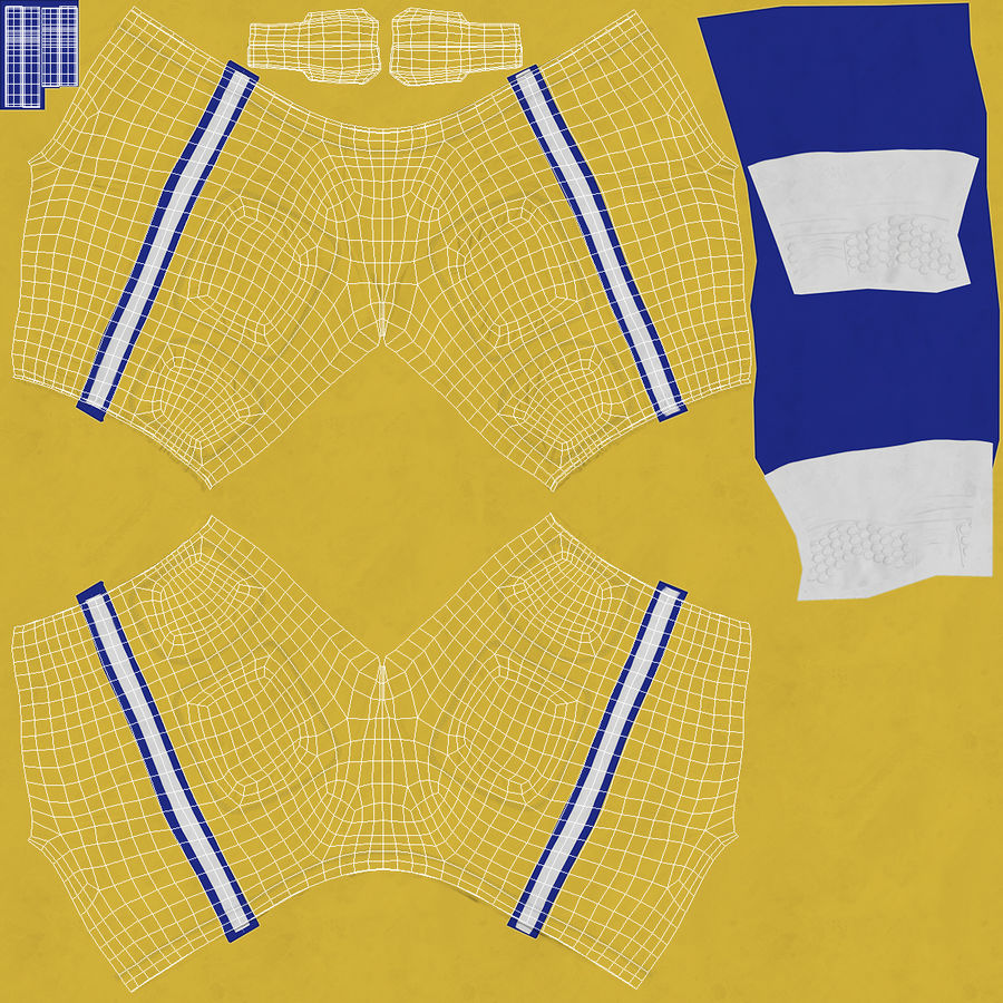 Uniforme de pantalones de jugador de fútbol americano royalty-free modelo 3d - Preview no. 13