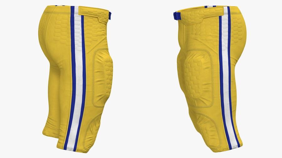 Uniforme de pantalones de jugador de fútbol americano royalty-free modelo 3d - Preview no. 5
