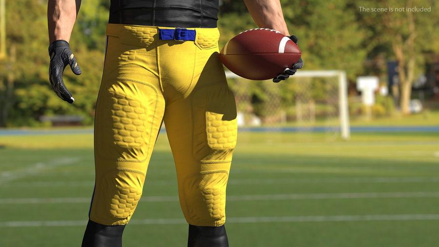 Uniforme de pantalones de jugador de fútbol americano royalty-free modelo 3d - Preview no. 3