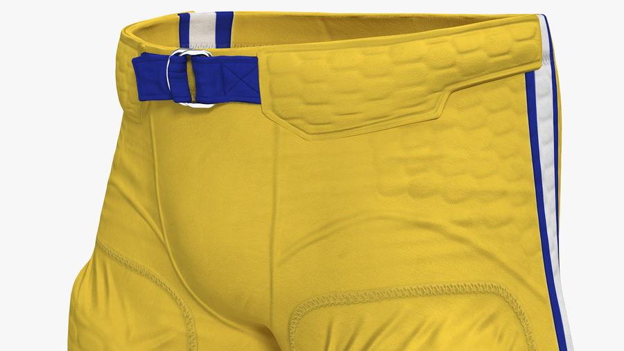 Uniforme de pantalones de jugador de fútbol americano royalty-free modelo 3d - Preview no. 6