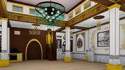 interior design mosque 3d model