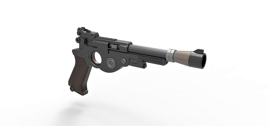 Blaster pistol from The Mandalorian royalty-free 3d model - Preview no. 19