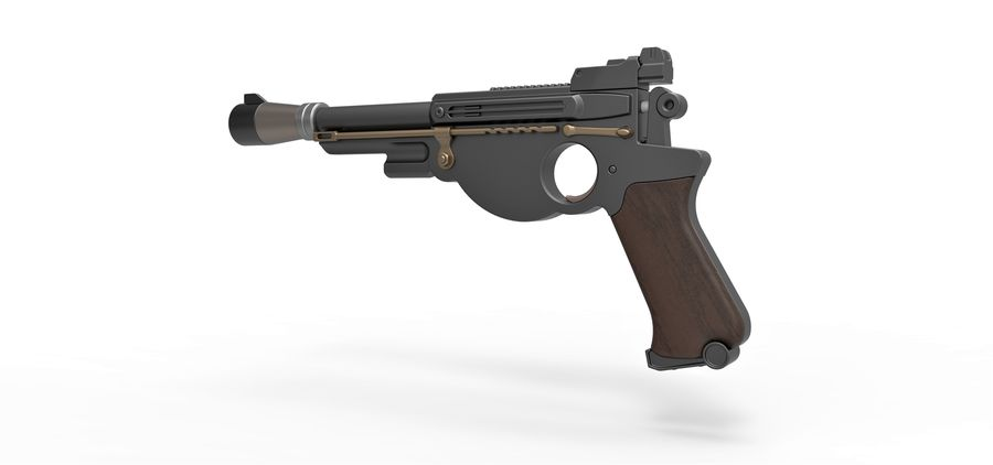 Blaster pistol from The Mandalorian royalty-free 3d model - Preview no. 12