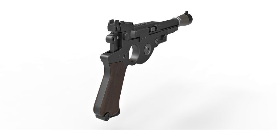 Blaster pistol from The Mandalorian royalty-free 3d model - Preview no. 16
