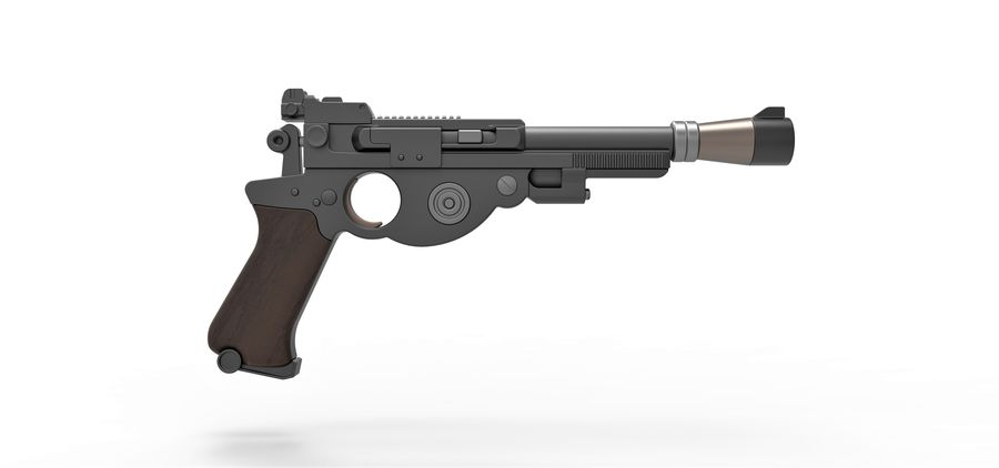 Blaster pistol from The Mandalorian royalty-free 3d model - Preview no. 17