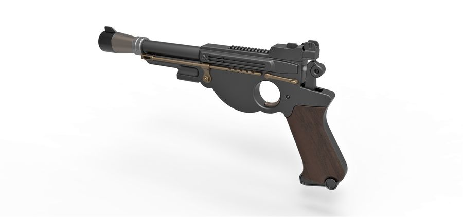 Blaster pistol from The Mandalorian royalty-free 3d model - Preview no. 11