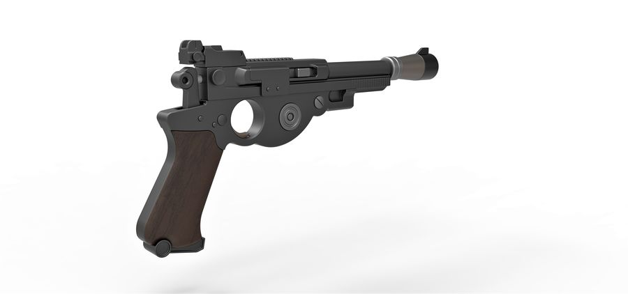 Blaster pistol from The Mandalorian royalty-free 3d model - Preview no. 15
