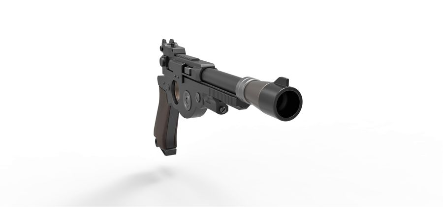 Blaster pistol from The Mandalorian royalty-free 3d model - Preview no. 20