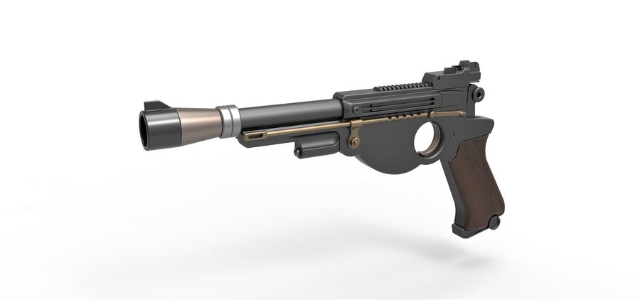 Blaster pistol from The Mandalorian royalty-free 3d model - Preview no. 1
