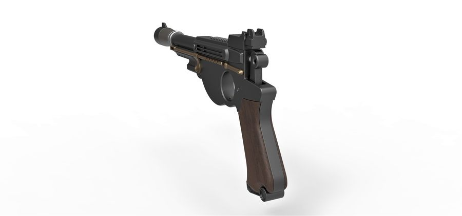 Blaster pistol from The Mandalorian royalty-free 3d model - Preview no. 13