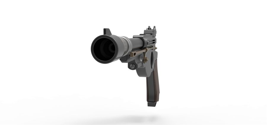 Blaster pistol from The Mandalorian royalty-free 3d model - Preview no. 6