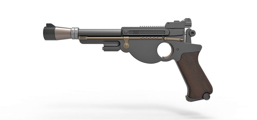 Blaster pistol from The Mandalorian royalty-free 3d model - Preview no. 8