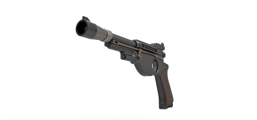 Blaster pistol from The Mandalorian royalty-free 3d model - Preview no. 5