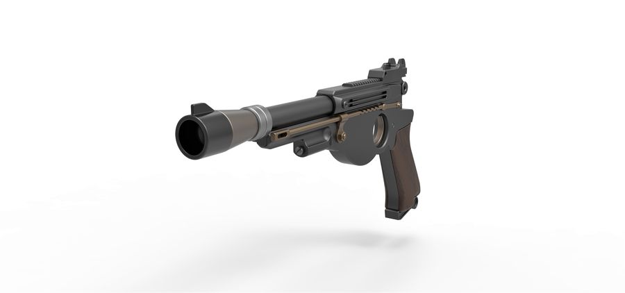 Blaster pistol from The Mandalorian royalty-free 3d model - Preview no. 4