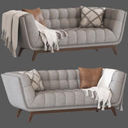 Культовая Мебель Магнус 3 Местный Диван 3d model
