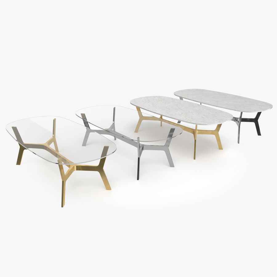 Elke Rectangular Coffee Table royalty-free 3d model - Preview no. 1