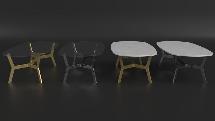 Elke Rectangular Coffee Table royalty-free 3d model - Preview no. 2