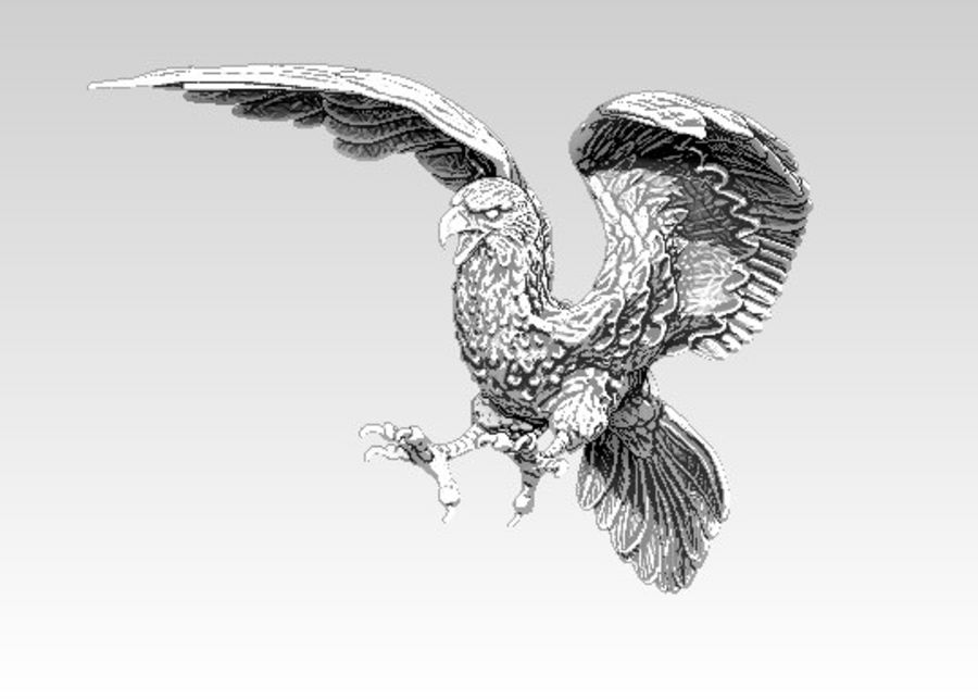Águila americana royalty-free modelo 3d - Preview no. 2