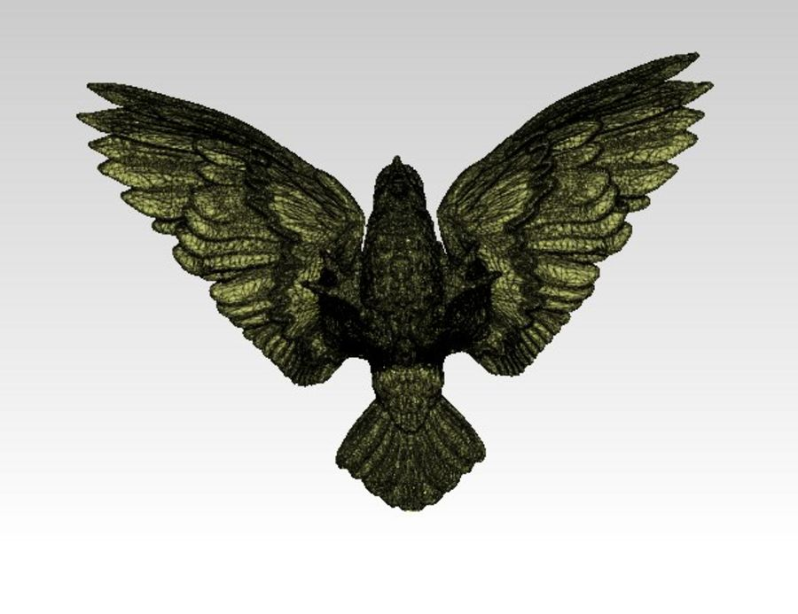 Águila americana royalty-free modelo 3d - Preview no. 6